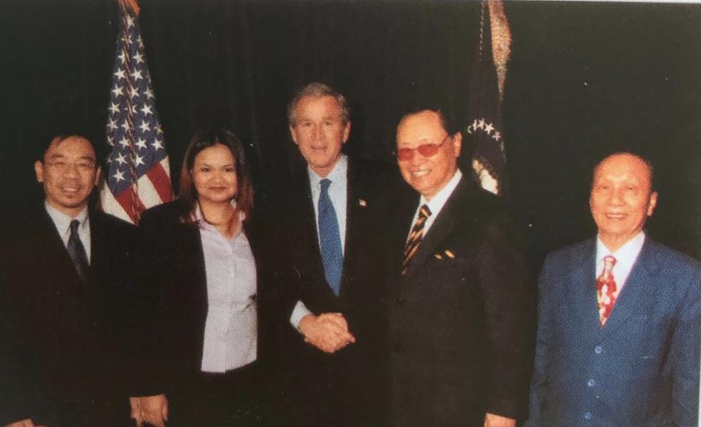 主席團代表蔣一成主席一行拜會美國布什總統