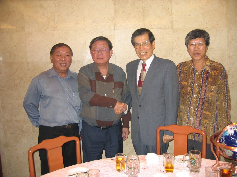 馬來西亞中華總商會鍾廷森會長,歡宴丁楷恩主席合影