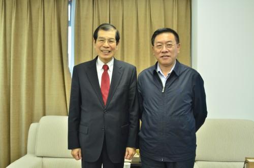 全國僑聯林軍主席與丁楷恩執行主席晤談