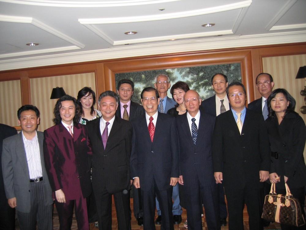 日本中華總商會歡迎聯盟訪問團合影