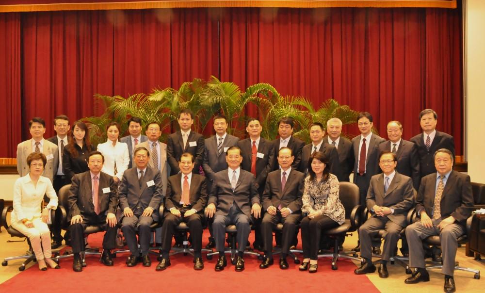 中國國民黨連戰榮譽主席會見聯盟主席團代表