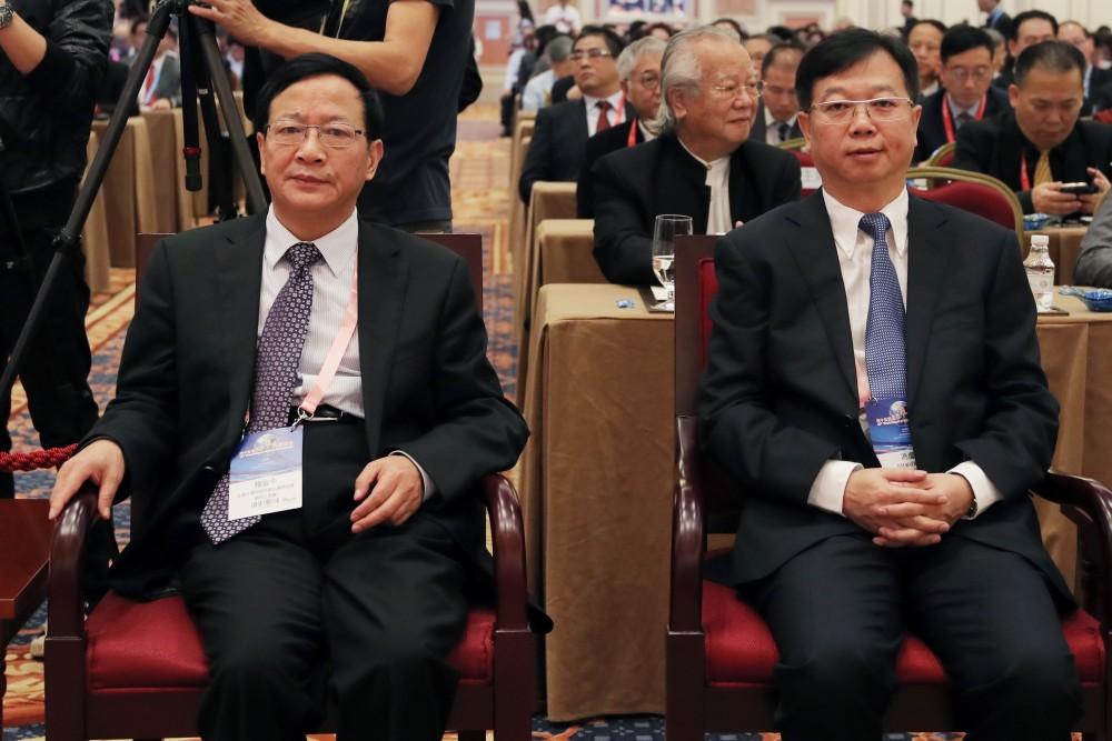 全國台灣同胞投資企業聯誼會會秘書長程金中先生與中國國際貿易促進委員會吉林省分會會長馮慶忠先生